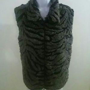Designers Studio Original Faux Far Vest